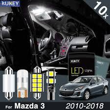 2010 Mazda 3 License Plate Light Xukey 10x Interior Led Light Kit For Mazda3 Bl Bm Bn 2010 2018 License Plate Reading Trunk Bulbs White Package Lamp Error Free