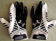 under armour nitro gloves. under armour adult nfl football nitro warp receiver gloves white-black size l
