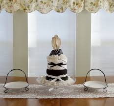 New Kitchen Gift Black And White Kitchen Towel Cake Bridal Shower Hostess Gift