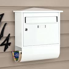 mailbox wall mount castle locking wall mount mailbox with newspaper roll ecco wall mount mailbox bronze