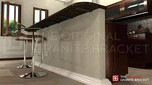 make float with granite support brackets metal countertop knee wall bracket