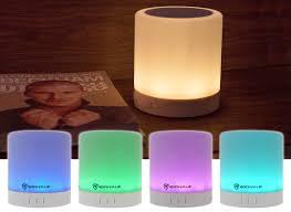 Rockville Pbl30 Led Night Light Touch Lamp Bluetooth Speaker Wauxsd