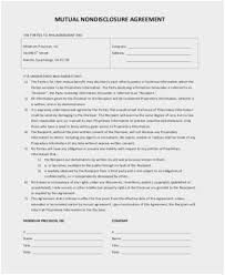 Business Confidentiality Agreement Sample Gorgeous Mutual Agreement Format Cute 48 Sample Confidentiality Agreements