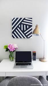 wall decoration white and black art design blue decor metal modern