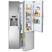 kenmore 51833. kenmore 51833 26.1 cu. ft. side-by-side refrigerator w/ grab-n-go™ door - stainless steel sears
