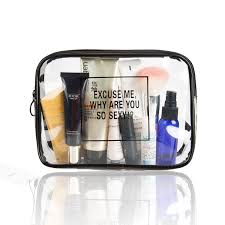 get ations 2 packs kit clear travel toiletry bag airport airline pliant bag quart sized with zipper travel