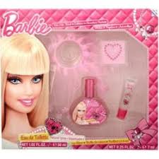Ep Line Barbie Edt 30 Ml Závoj Na Vlasy Tetování Lesk Na Rty Pro Děti Dárková Sada