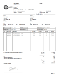 Format Of Credit Note Under Fontanacountryinn Com