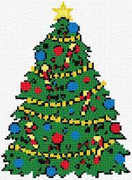 Merry Christmas 35 335 Cross Stitch Tree Santa Cross