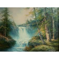 r danford waterfall painting gorgeous landscape painting oil on canvas 210