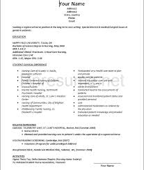 Rn Professional Resumes Graduate Nursing Resume Resume Sample