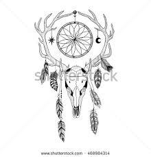 Dream Catcher Satanic Detailed Deer Aztec Style Stock Vector 100 Shutterstock 50