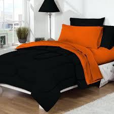 orange bedding sets dorm bed bath black orange set for twin college beds intended and comforter