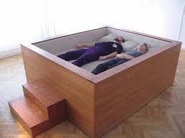 Coffin Designs Sonic Bed By Kaffe Matthews With Surround Sound Speakers May Be