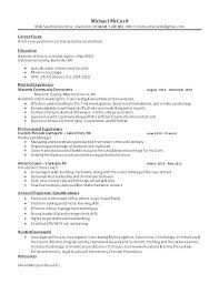 Sample Criminal Justice Resumes My Resume Now Criminal Justice Resume Objective Examples Criminal
