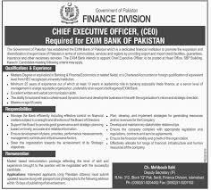 Chief Executive Officer Ceo Jobs At Exim Bank Of Finance