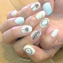 オーダーメイド マリン マリンネイル ヤシの木 貝殻 ハワイ