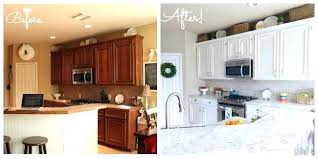 painted white kitchen cabinets before and after. Painting Kitchen Cabinets Before After Breathtaking Paint  White And Repaint Painted E