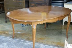 stained and glazed dining set reveal
