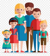 Family Home Evening Flat Design Illustration Family Emergency
