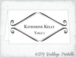 Practical Wedding Table Name Cards Template Word Ivanparada Co