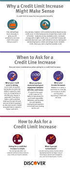 ask for a credit limit increase how do you know when to request a credit line increase discover