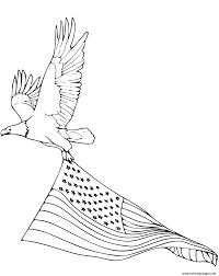 Coloring Pages Bald Eagle And Us Flag Bald Coloring Printable