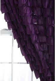 purple ruffle curtain dark purple waterfall ruffle curtain matches my pillows on my bed purple ombre