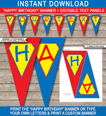 Superhero Party Banner Template Best Party Custom
