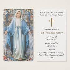 Funeral Prayer Cards Funeral Prayer Cards Hail Mary Zazzle Com