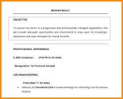 Resume Objective Example Enchanting Resume Objective Statement Examples Business Analyst Plus Objectives