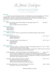 Sample Interior Design Resume - Best Resume Collection