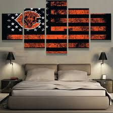 promo chicago bears auctions sports flag 5 panel canvas hd prints painting wall art home
