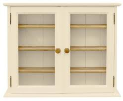 Hambelton Cream Small 2 Glass Door Display Cabinet