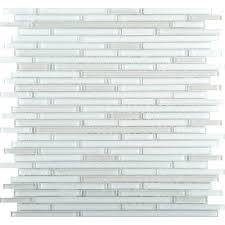 infinity white glossy 11 73 in x 11 73 in x 4mm glass mesh mounted mosaic tile