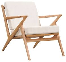 Limn Midcentury Modern Chair Ash Wood Z Frame Midcentury