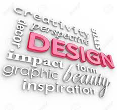 Words Associated With Graphic Design The Word Design And Related Words In A Collage Representing Creativity