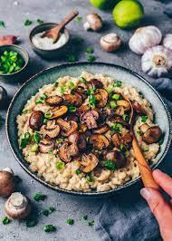 Creamy Mushroom Risotto - BEST Vegan Recipe - Bianca Zapatka
