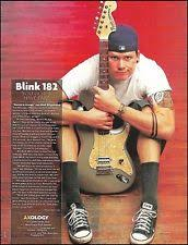 fender stratocaster tom delonge deluxe series guitar blink 182 tom delonge custom fender stratocaster guitar 8 x 11 pinup article