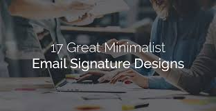 great email signatures 17 great minimalist email signature designs email signature rescue