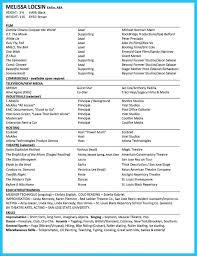 Examples Of Actors Resumes Resume Format Beginners Acting Beginner Actor Template No