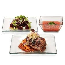 tempo 12 piece glass dinnerware set