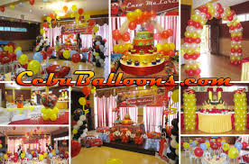 Cars Party Decorations Balloon Decorations For Birthday Party Party Favors Ideas