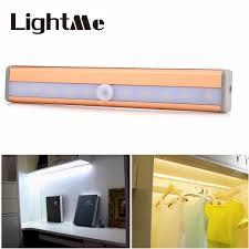 Home Kitchen 10 Leds Pir Infrared Motion Sensor Closet Cabinet