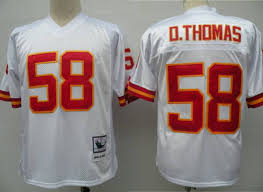 Sale In Mitchell Derrick 58 Top Nfl White Quality Jersey Thomas Chiefs Stitched And Throwback Ness Big Discount