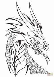 Cool Dragon Drawings Head Drawing Realistic Coloring Pages Of