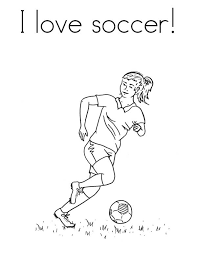 Girl Soccer Coloring Pages At Getdrawingscom Free For Personal