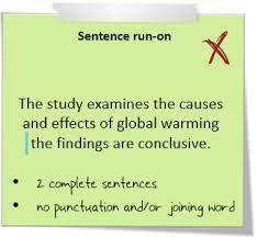 Sentence Fragments And Run Ons Student Learning University Of Waikato