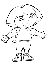 Small Picture DORA Preschool Coloring Pages Kids coloring pages Free Printable