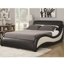 california king niguel modern upholstered bed coaster kw
